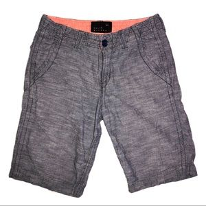 Quiksilver flat front casual shorts grey